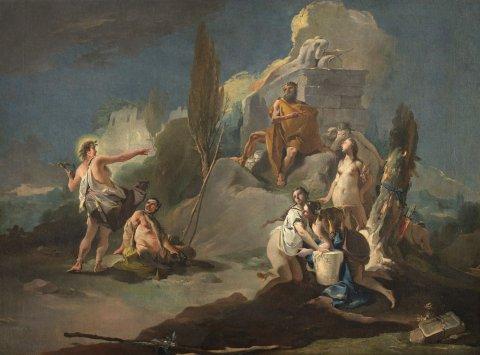 Figura 3: Apollo e Marsia (1770) di Giambattista Tiepolo è una delle opere attualmente non esposte