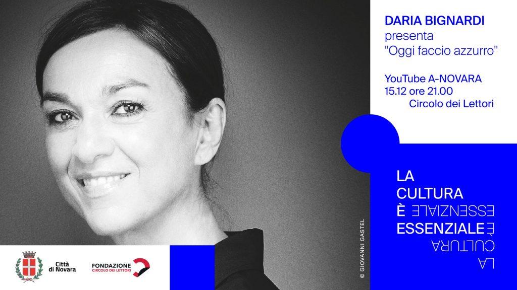 """Figura 3: Locandina dell'evento """"Oggi faccio azzurro"""", con la speciale partecipazione di Daria Bignardi"""