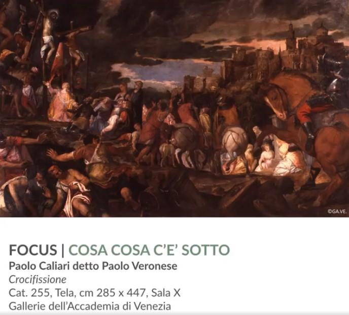 """Figura 4: Locandina dell'Appuntamento """"Cosa c'è sotto. 'La Crocifissione' di Paolo Veronese"""""""
