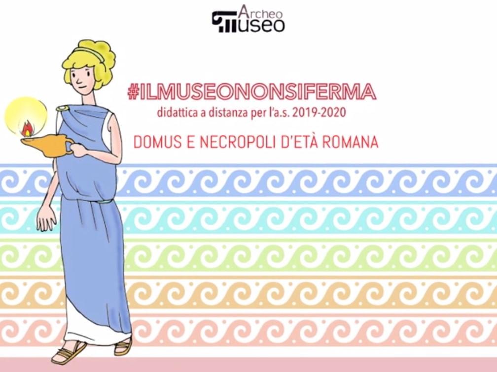 """Figura 5: Locandina del laboratorio didattico """"Domus e Necropoli d'età romana""""."""
