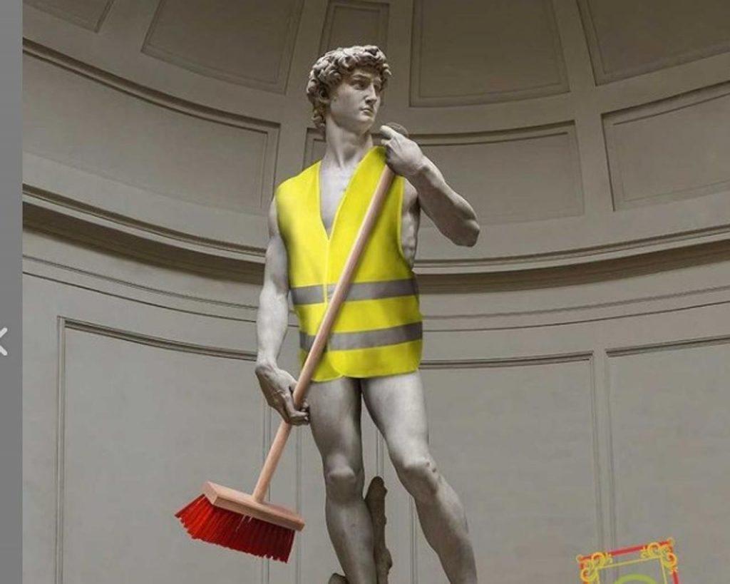 David di Michelangelo ritratto come rappresentato da Alia