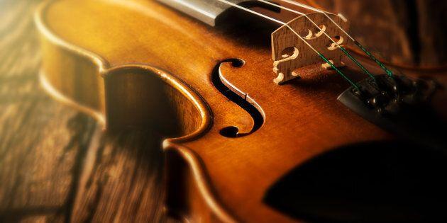 Particolare di un violino.