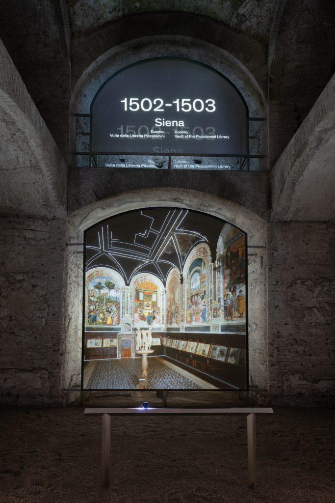 """Allestimento della mostra """"Raffaello e la Domus Aurea. L'invenzione delle grottesche"""""""