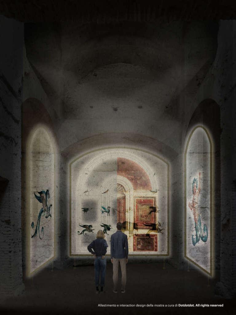 """Render della mostra """"Raffaello e la Domus Aurea. L'invenzione delle grottesche"""""""