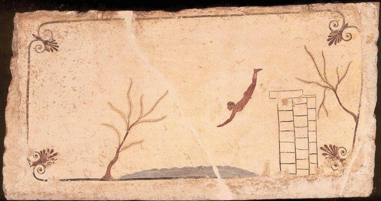 Tomba del Tuffatore, affresco, 480-470 a.C.