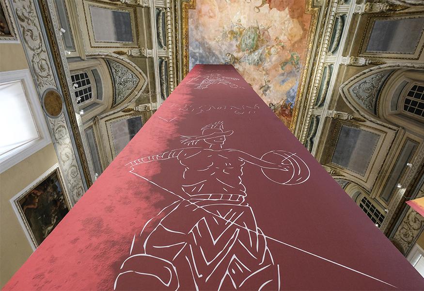 """Interno della mostra """"gladiatori"""""""