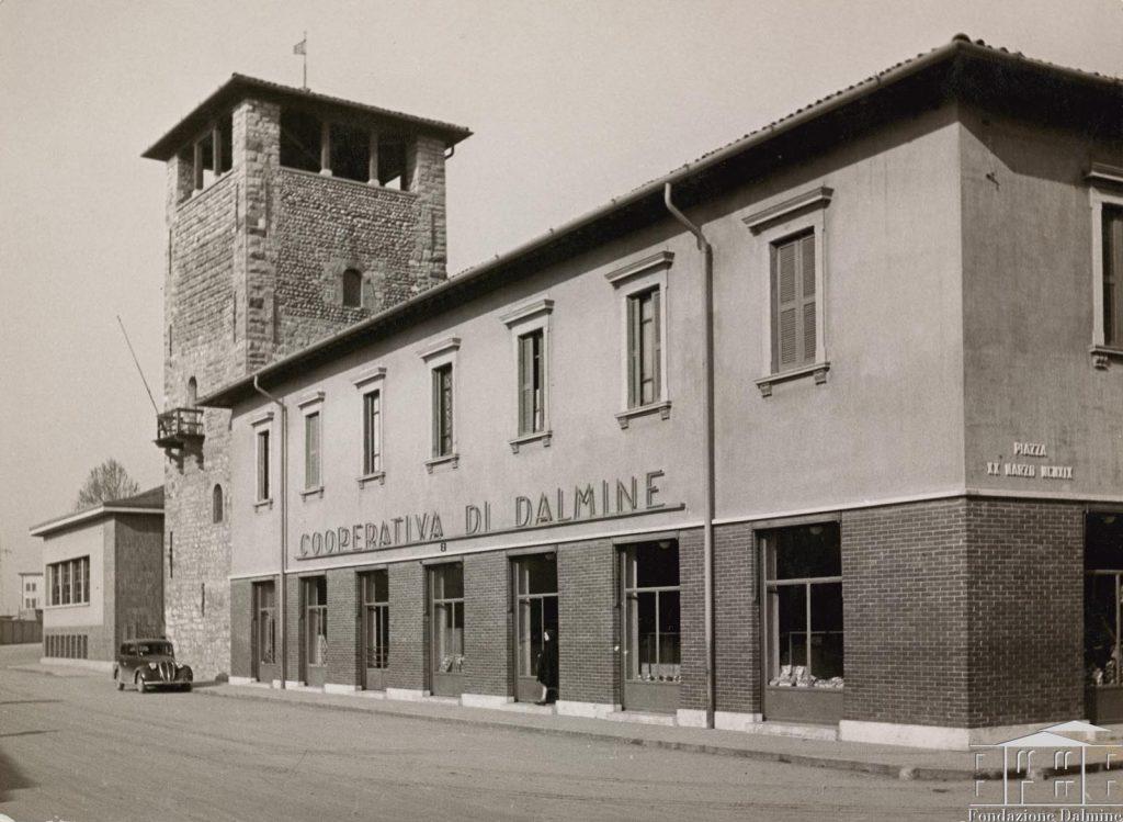 La cooperativa della città industriale di Dalmine nel passato.