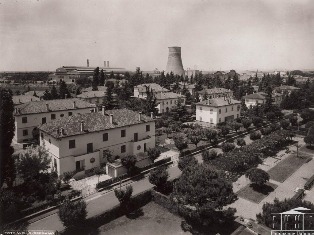 La città industriale di Dalmine nel passato.