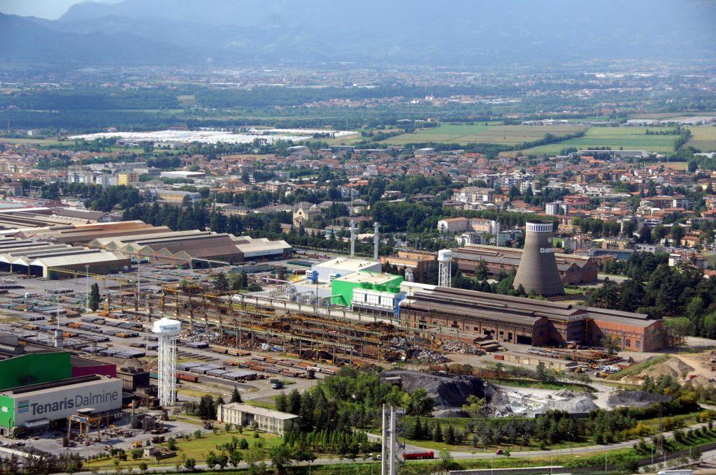 La città industriale di Dalmine oggi.